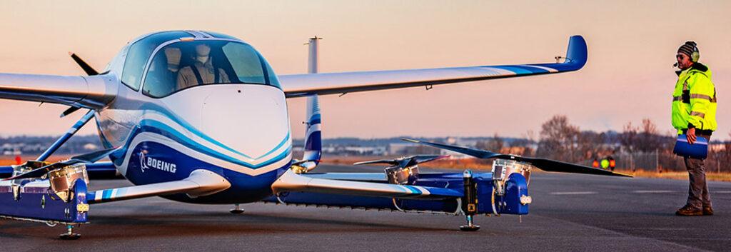 Boeing EVTOL first test flight of its all-electric autonomous passenger air vehicle