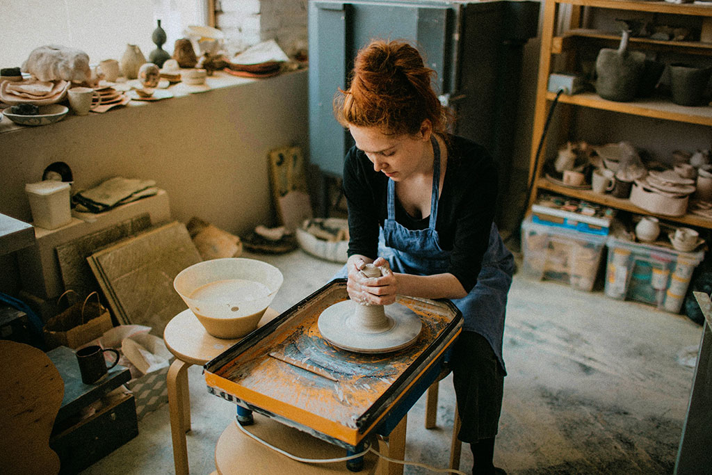 Local pottery craftsman