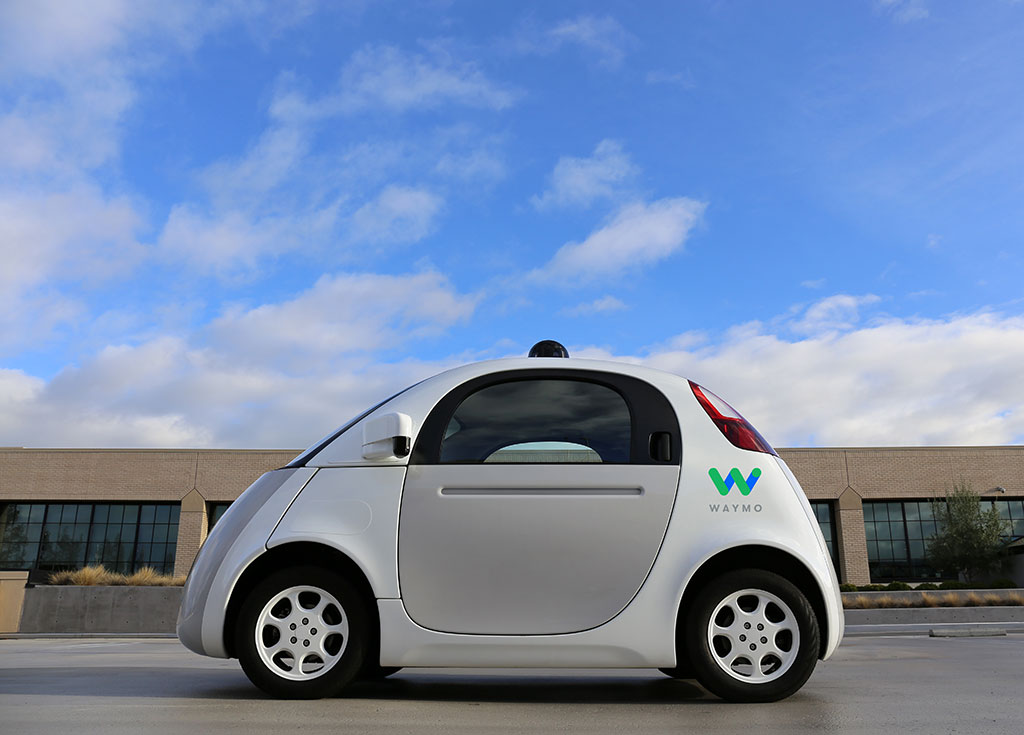 side view of waymo taxi