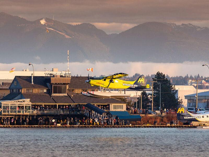 Harbour Air seaplane landing