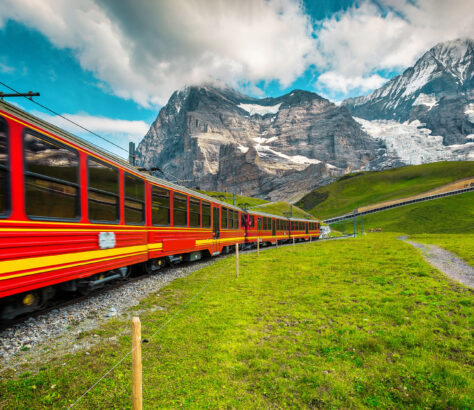 Grindelwald electric railway in Switzerland