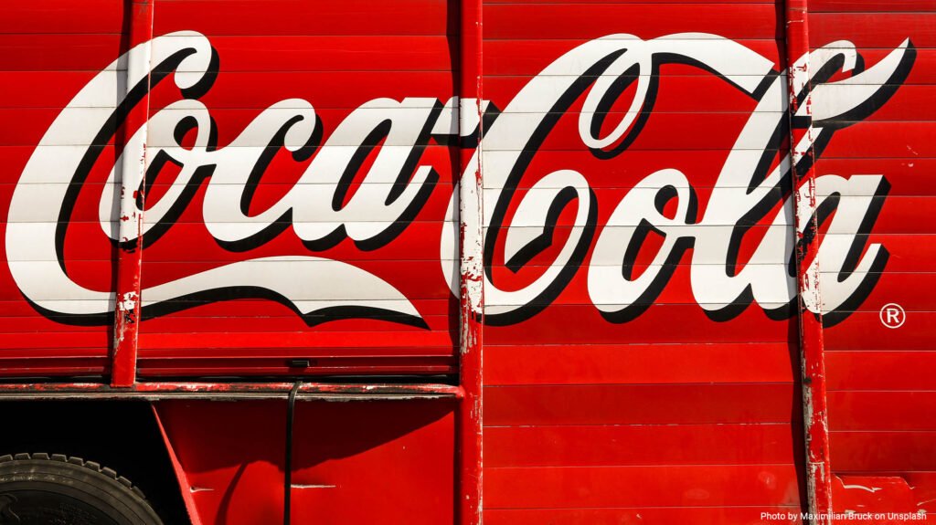 Coca Cola printed on a shutter