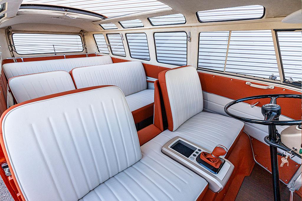 VW Bulli interior seating