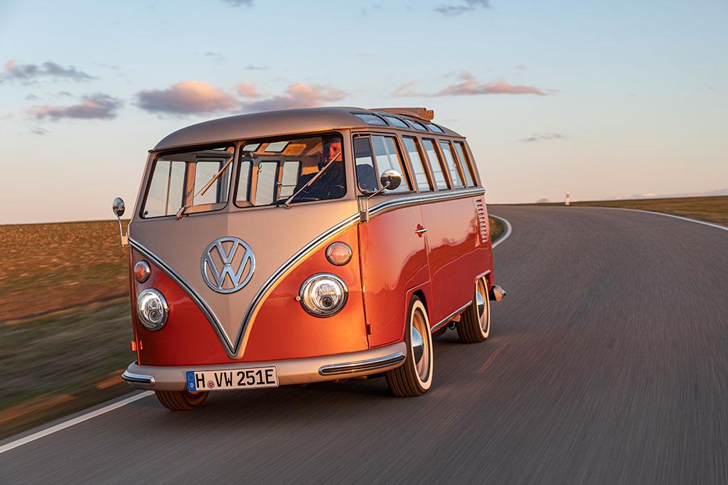 VW Bulli on the road