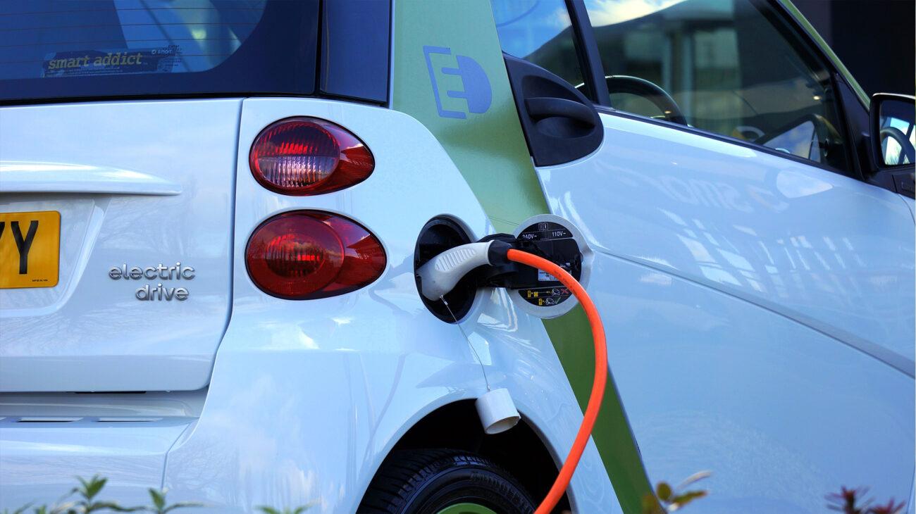 Car charging at a supermarket