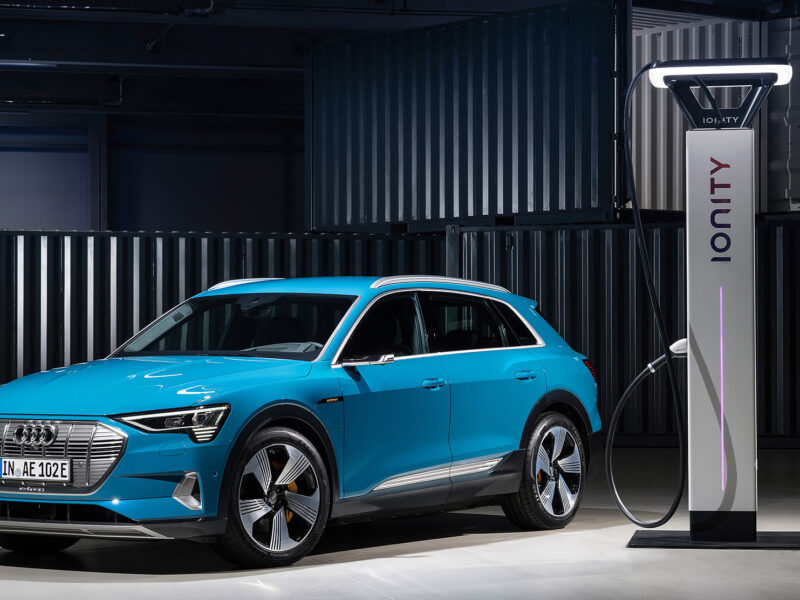 Audi charging at an Ionity point