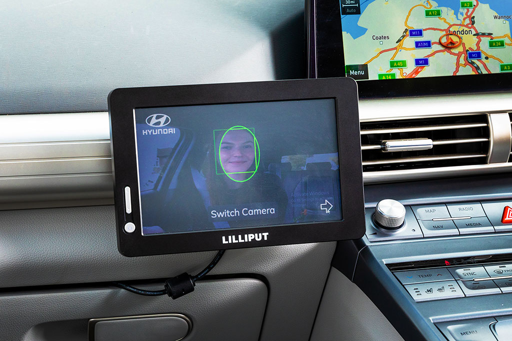 In-car cameras monitored facial expressions and eye movements