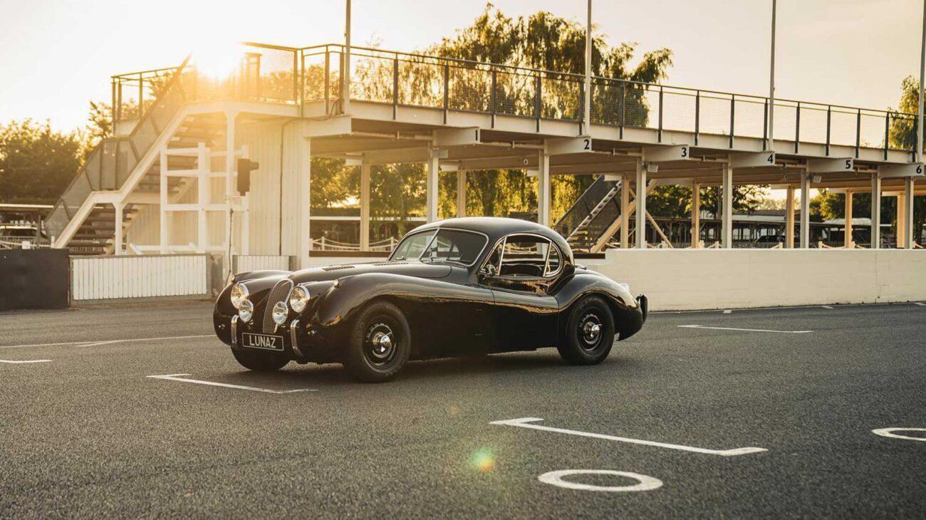Converted Jaguar Lunaz XK120 classic car