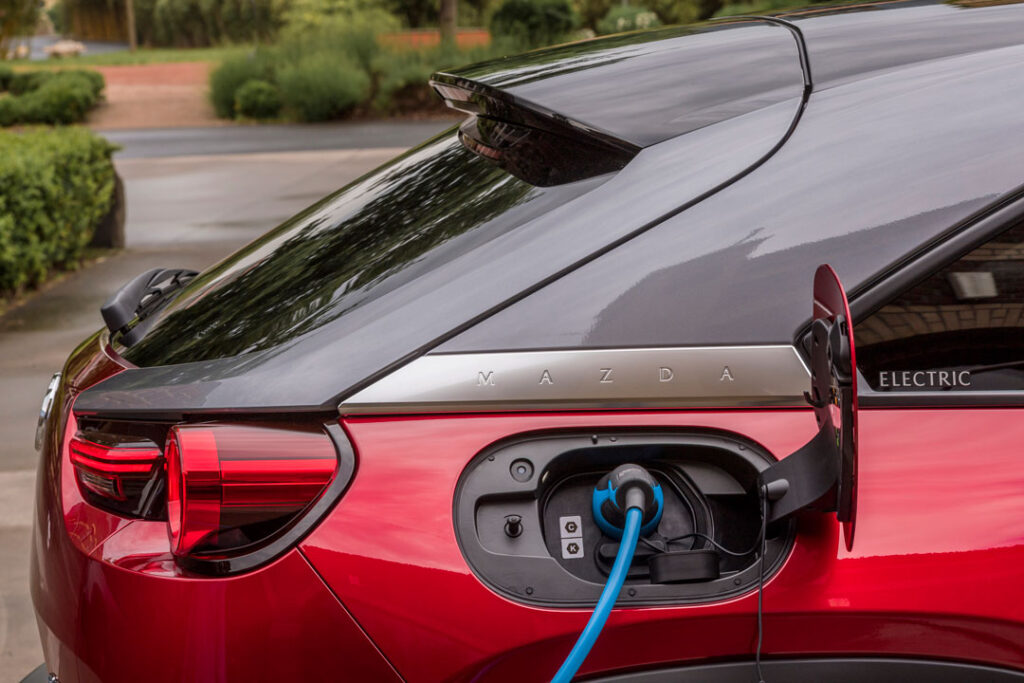 Mazda MX-30 charging port