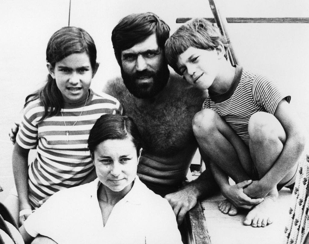 The family in Fiji; Doina (left), Jimmy (centre), Ivan (right) and Gwenda (front)