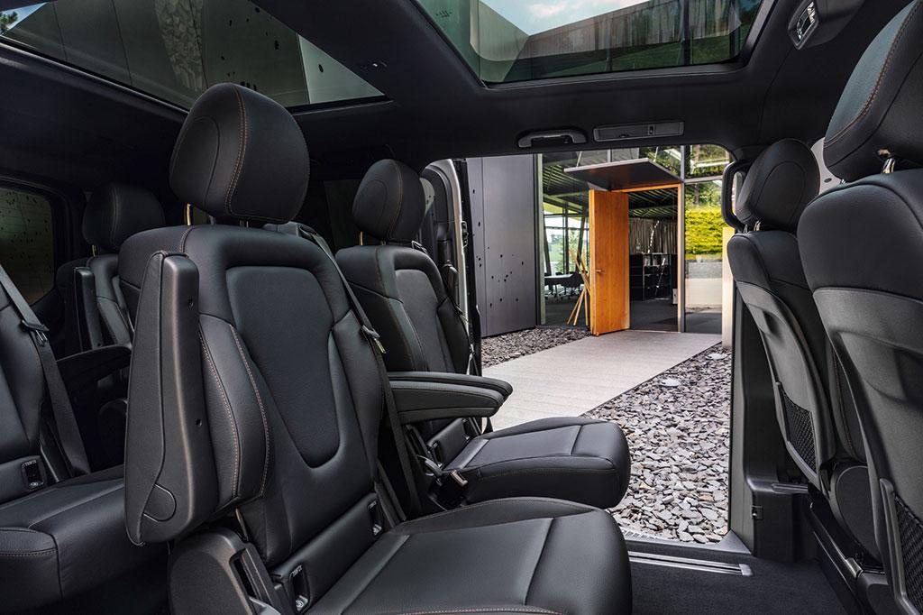 Mercedes Benz EQV rear seat