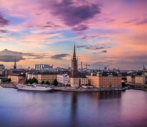 Capital of Sweden, Stockholm, captured at sunset