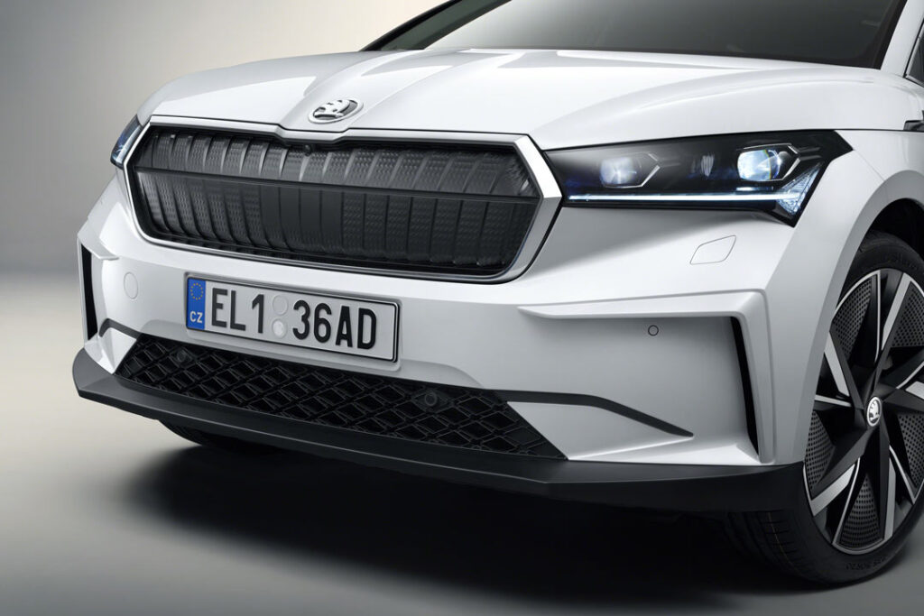 Front of the Škoda Enyaq iV founders edition