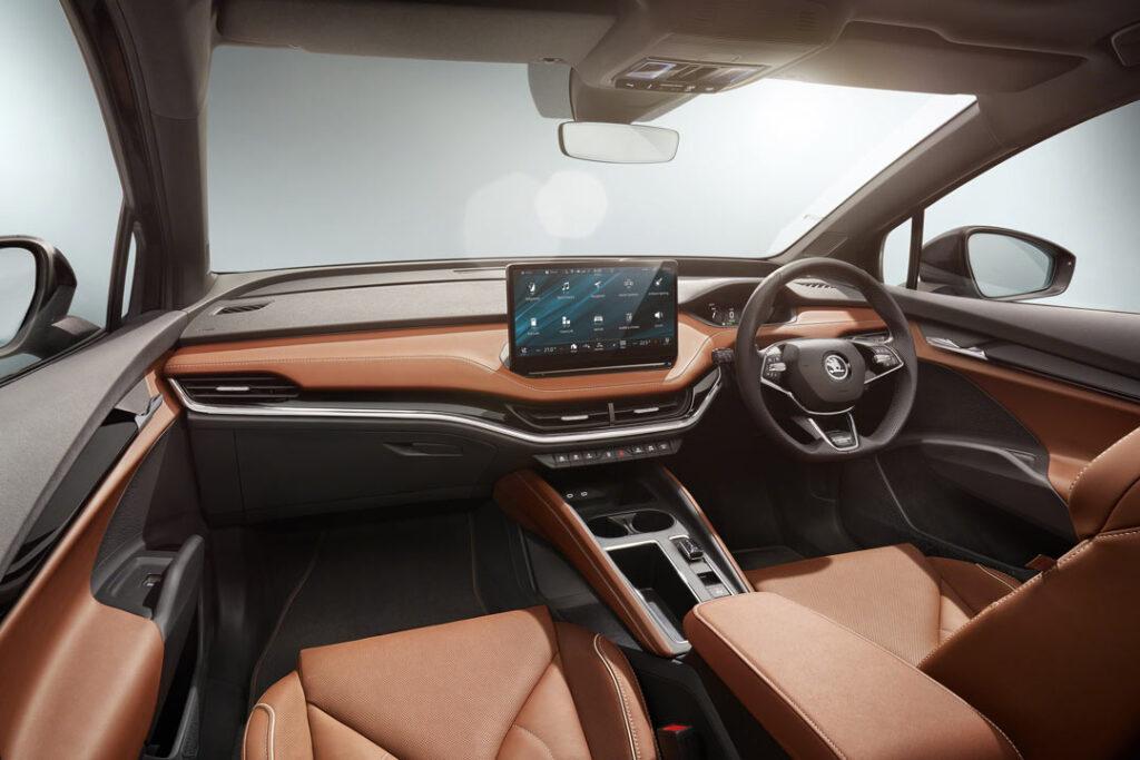 The interior of the Škoda Enyaq iV