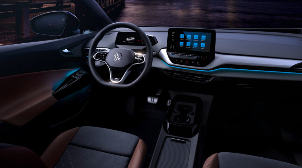 Interior of the all new ID4