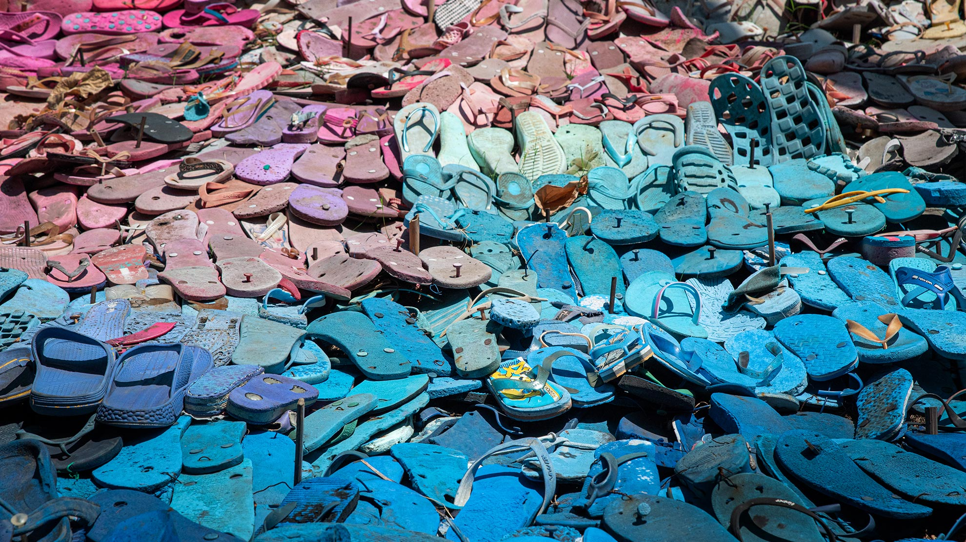 Seeking eco-friendly beachwear? Try flip-flops made of algae