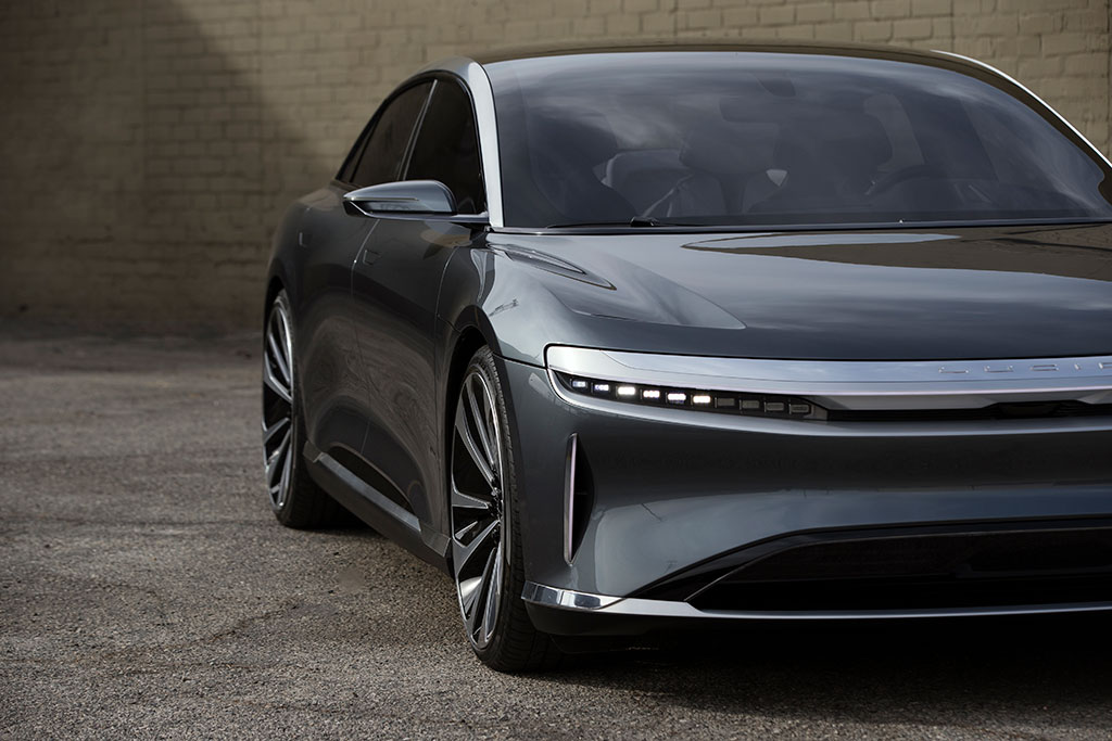 Front aspect of the Lucid Air