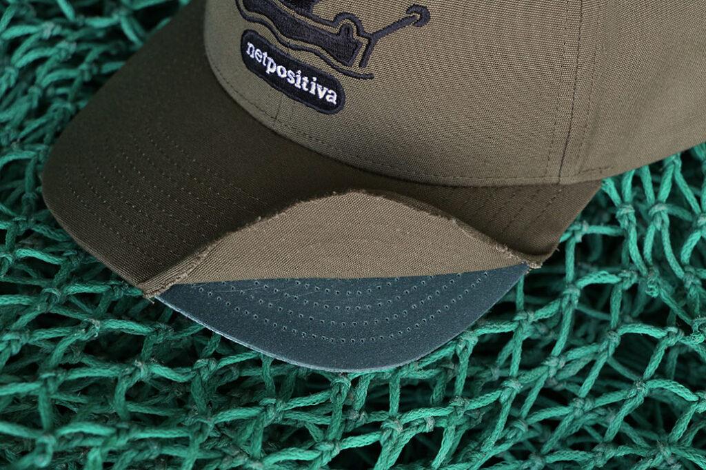 Patagonia cap with brim exposed
