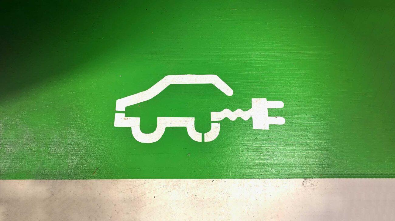 EV charging parking space