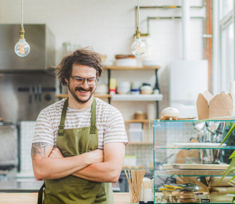 Lagom Chef Martyn Odell in his kitchen