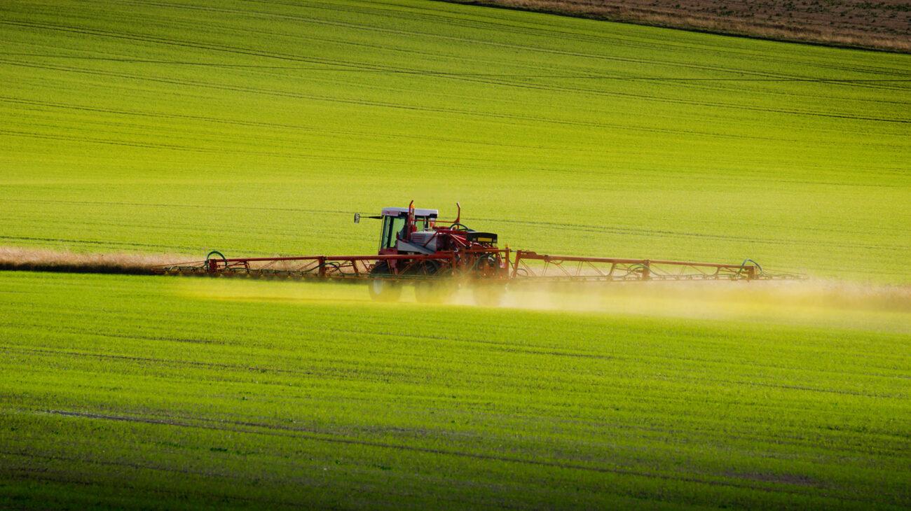 Farm being fertilised