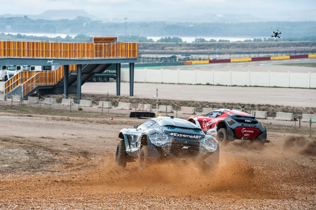Acciona-Sainz XE Team testing at Alcaniz, Spain
