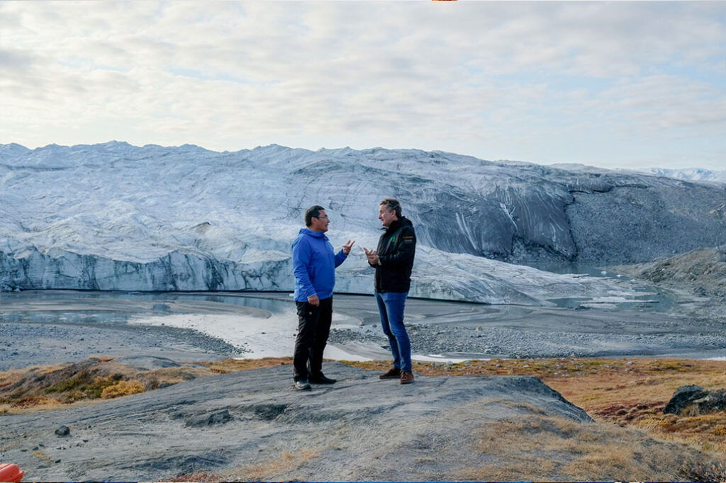 Alejandro meets with Jess Svane, Greenland's Minister for Industry, Energy and Research
