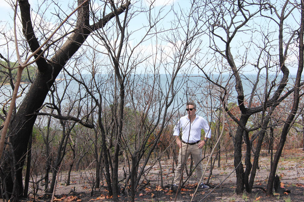 Exploring an area of the Amazon rainforest decimated by fire