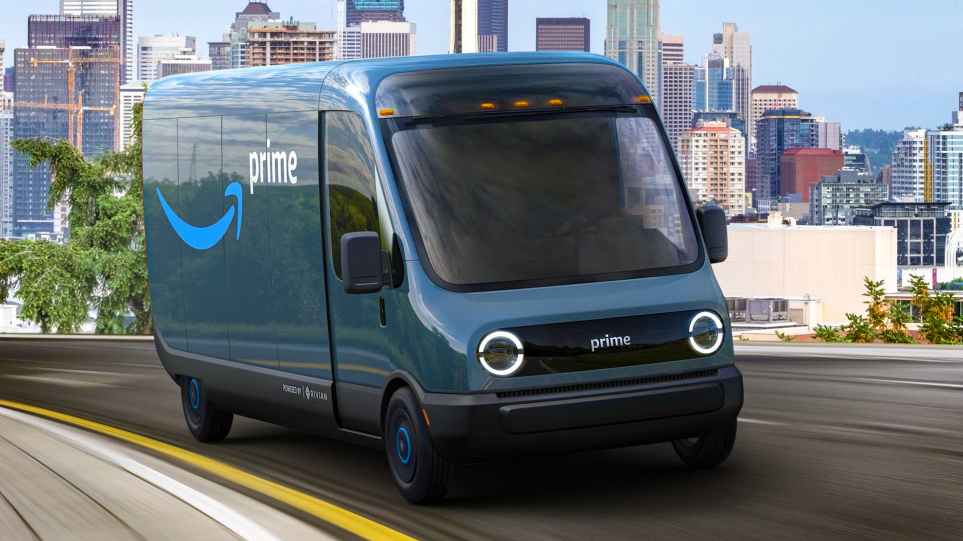 Volta Feature Amazon Partners with Rivian Truck