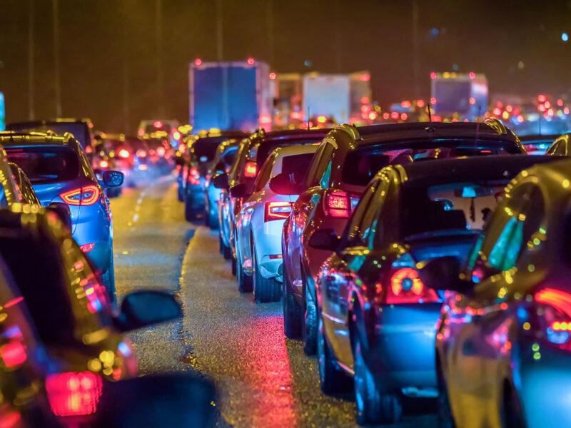 Traffic scene on motorway