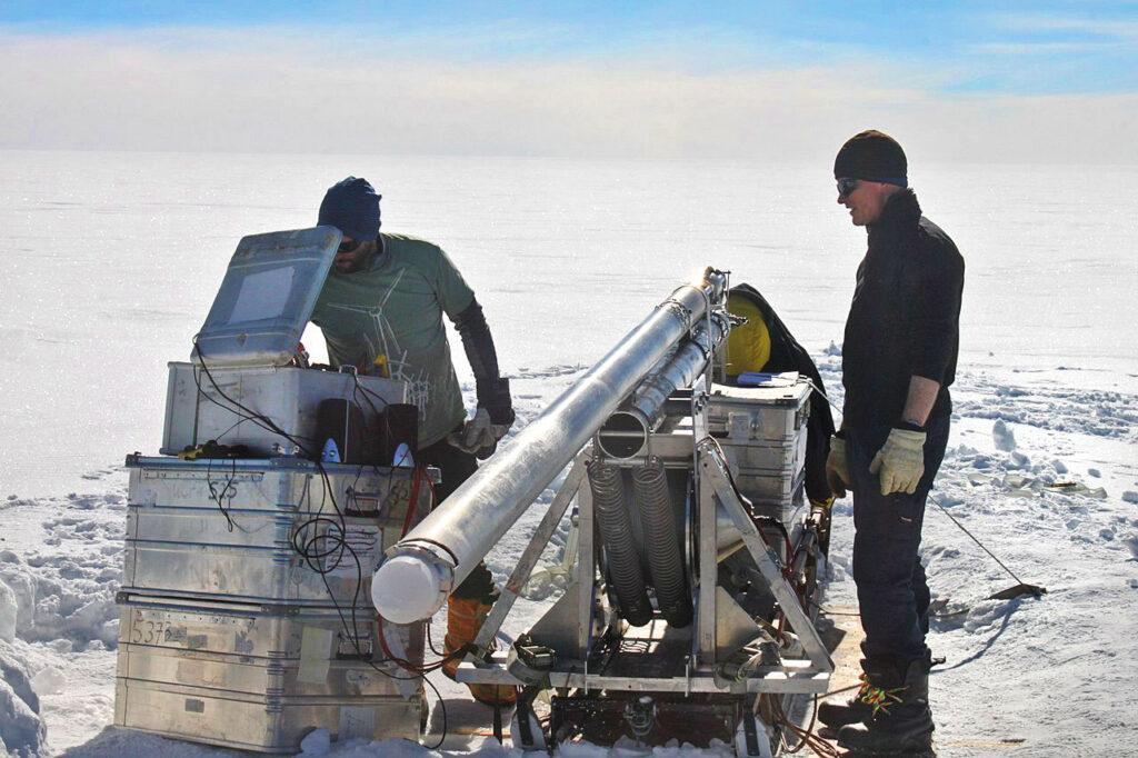 Volta Shallow ice core drilling danish Hans Tausen drill