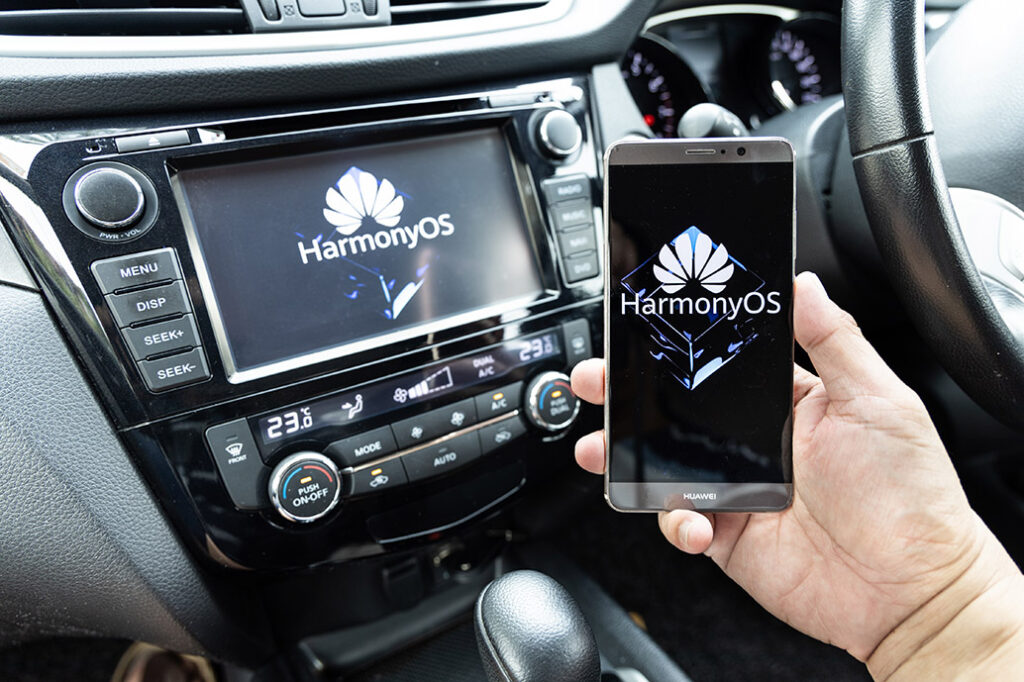 Huawei's operating system, Harmony OS, on Honor's car smart screen