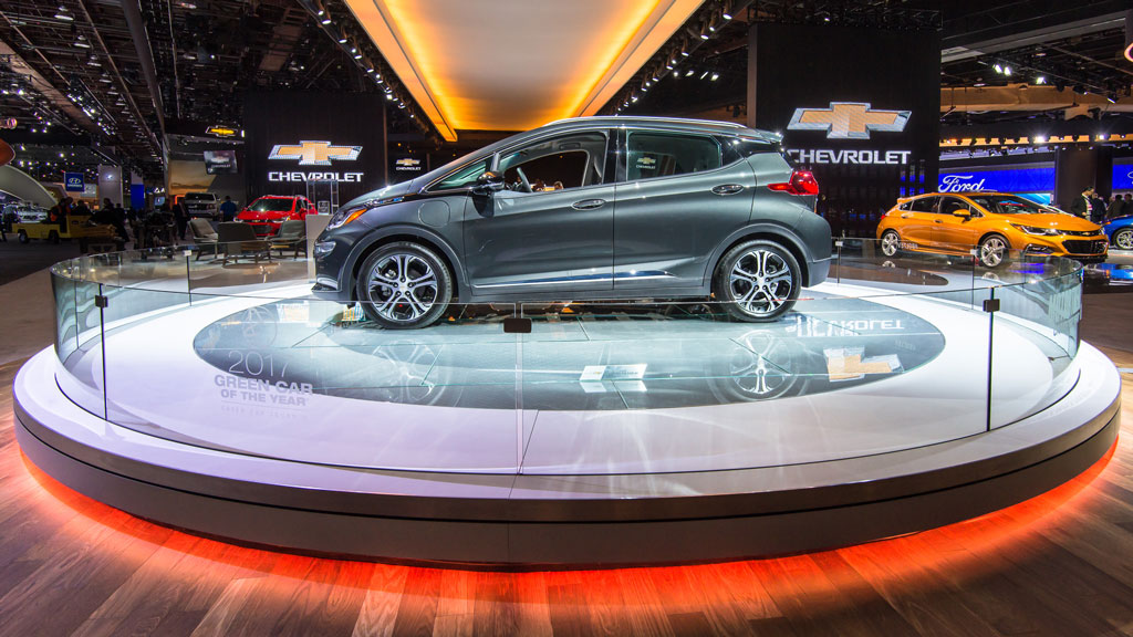 Chevrolet Bolt EV car at the North American International Auto Show