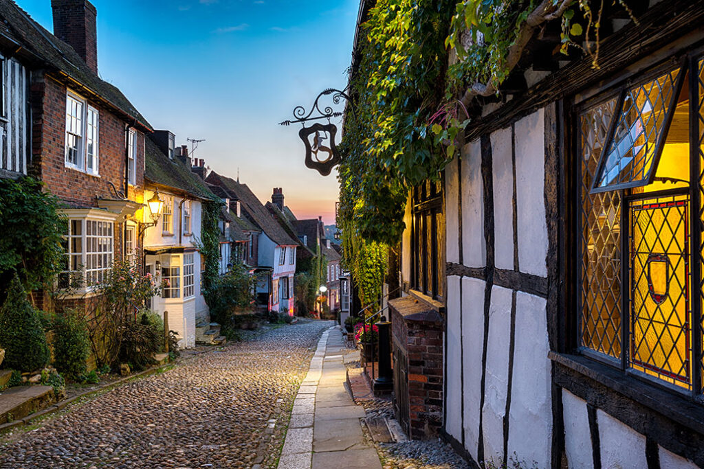 A cobbled street in Rye