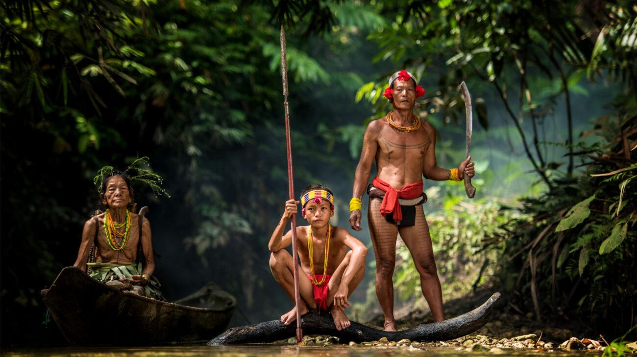 Mentawai people. West Sumatra, Siberut island, Indonesia.