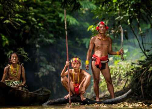 Mentawai people. West Sumatra, Siberut island, Indonesia.