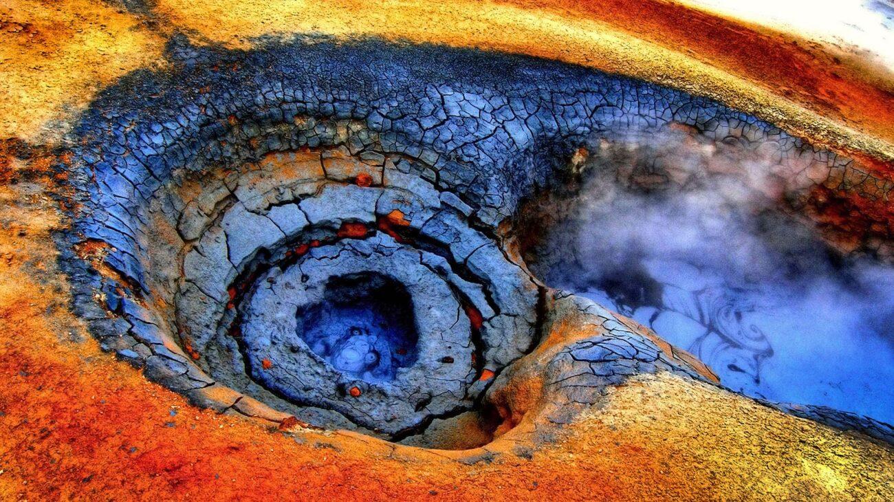 Volta Hverir a geothermal area in Iceland