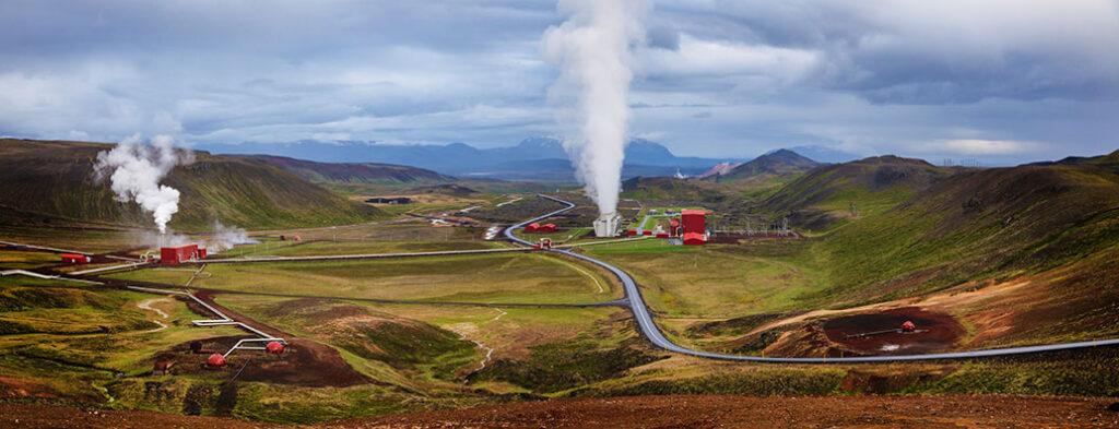 Krafla geothermal power plant, Iceland