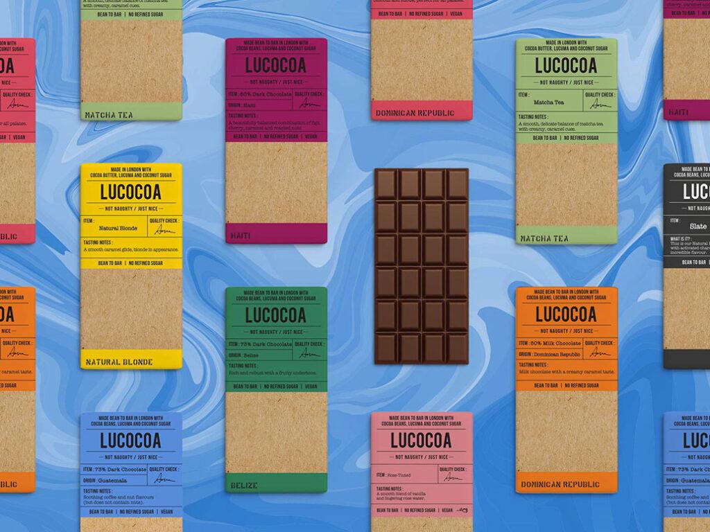 A range of Lucocoa Chocolate bars