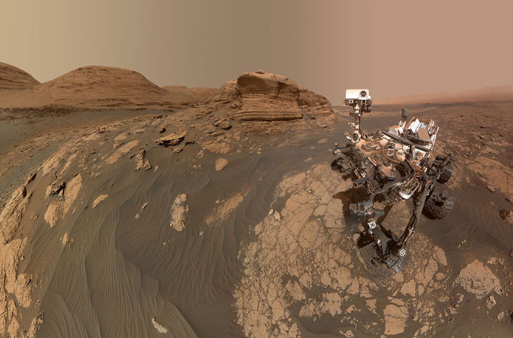 A selfie taken by NASA's Curiosity rover whilst on Mars