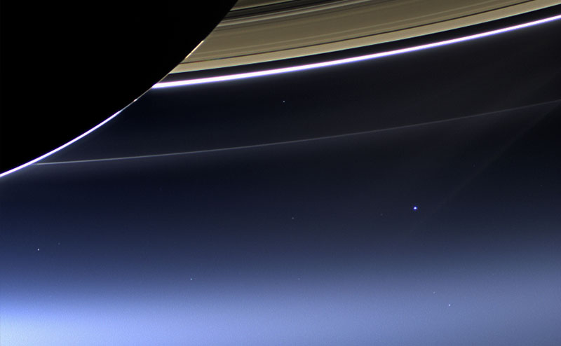 Volta The Pale Blue Dot Cassini 8001