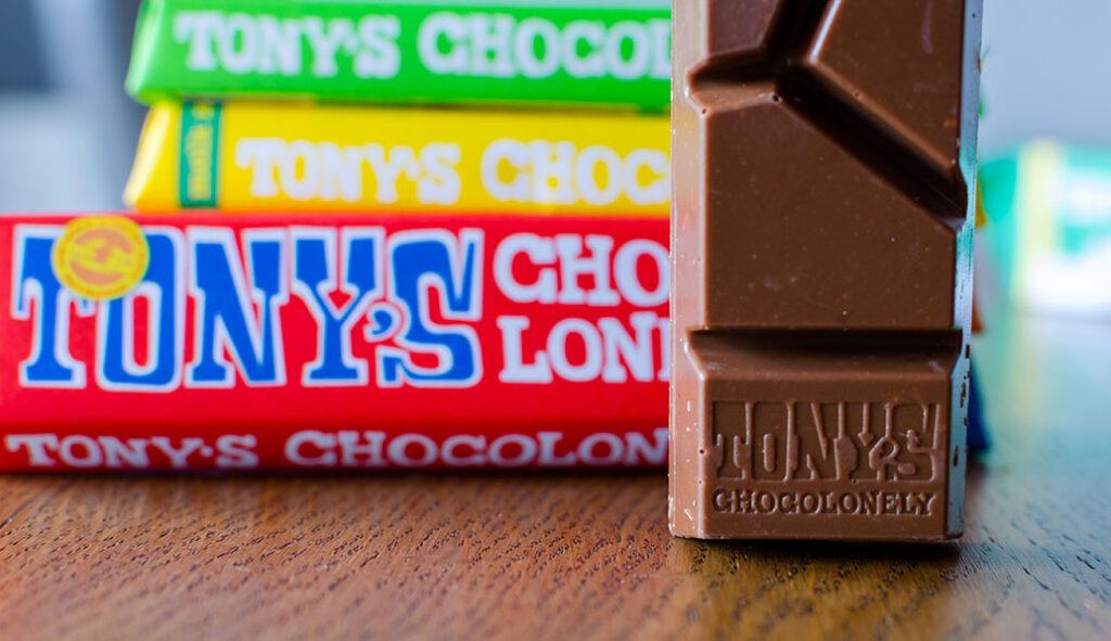 A range of Tony's Chocoloney chocolate bars