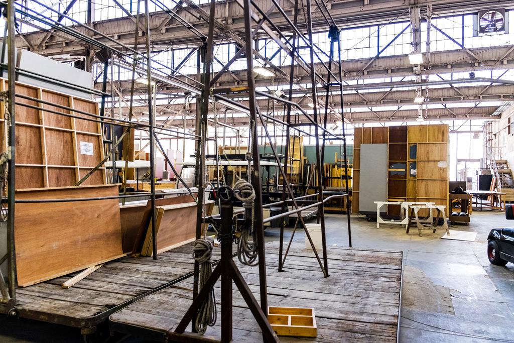 Movie set factory in Warner Bros Studio, Los Angeles